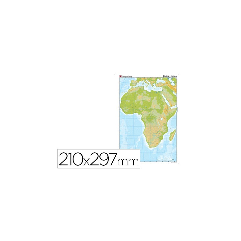 Mapa mudo color africa -fisico