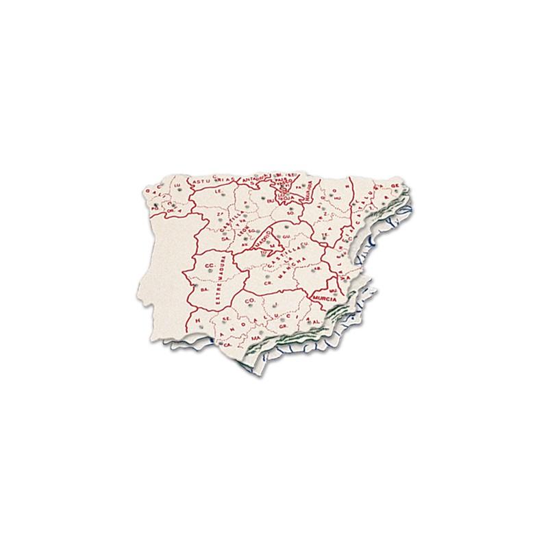 Mapa espanha em plastico -...