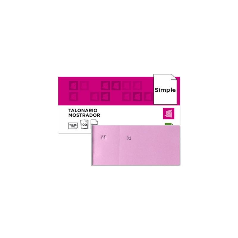 Bloco de taloes 6 4 rosa