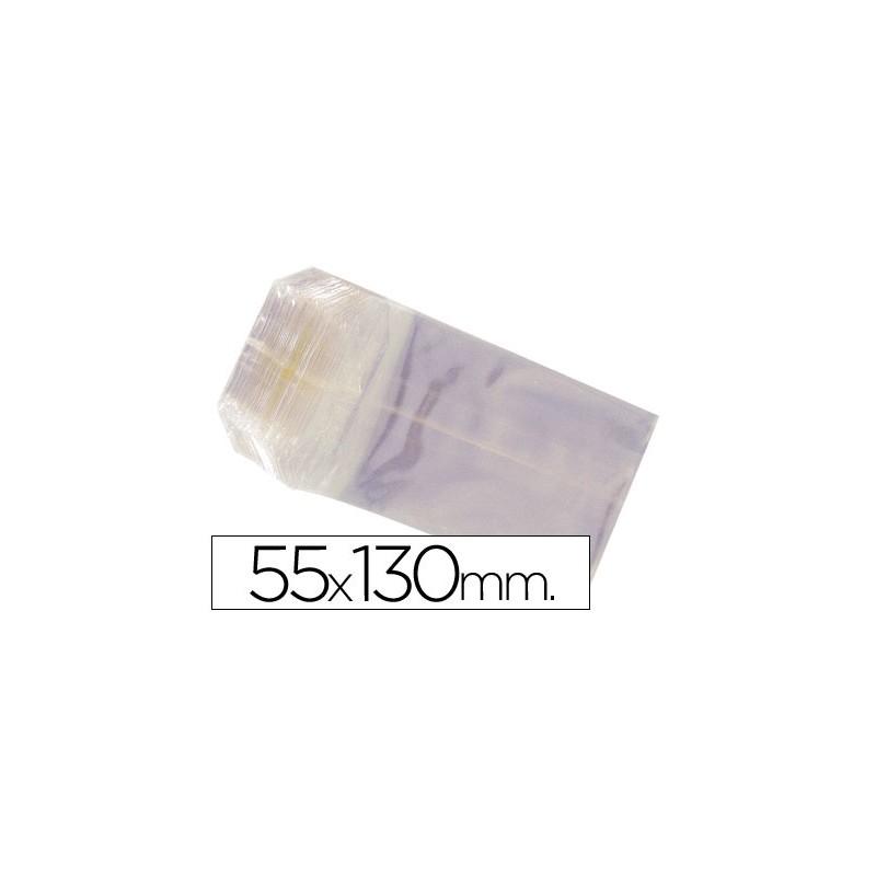 Saco celofane 55x130mm pack...