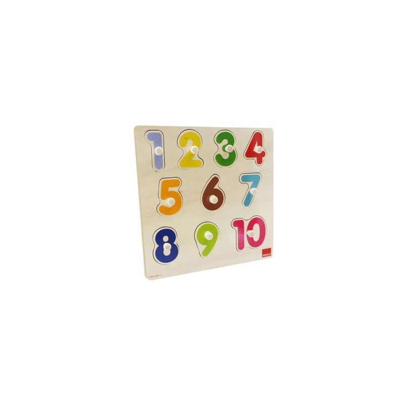 Puzzle goula numeros 10 peças