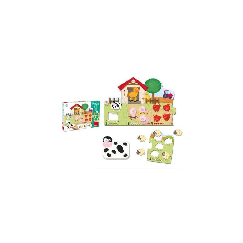 Puzzle goula 1-5 21 peças