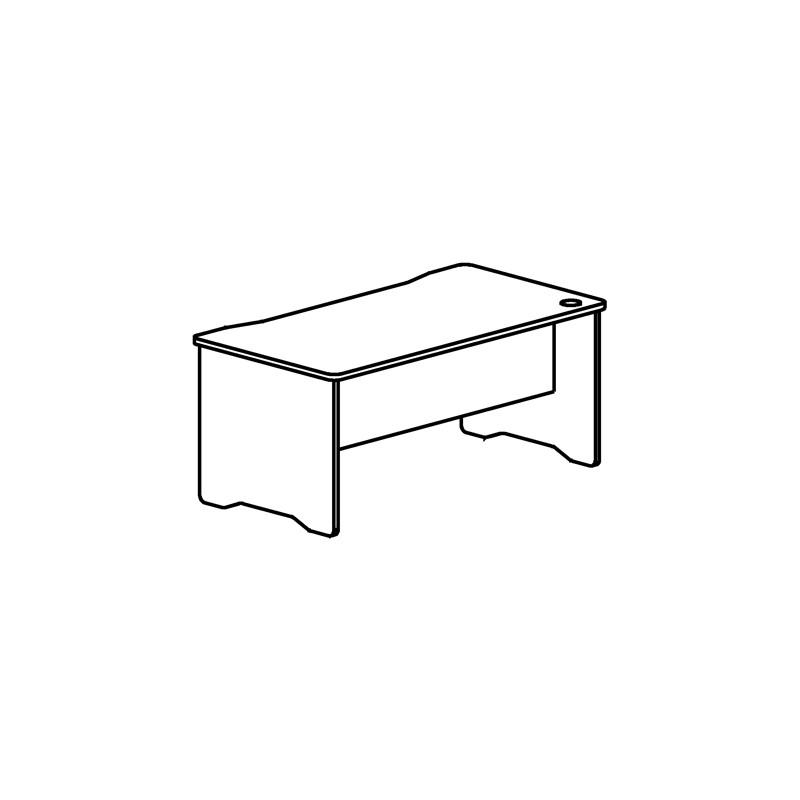 Mesa de escritorio rocada...