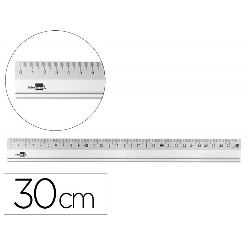 Regua liderpapel 30 cm...